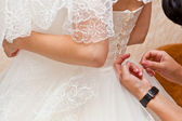 Bride corset tie — Stock Photo