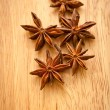 Asterisks anise on the board — Stock Photo