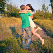 Stock Photo: Young couple having fun outdoor