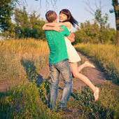 Young couple having fun outdoor — Stock Photo