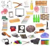 Set of different household objects on a white background — Stock Photo