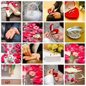 Bridal accessories collage — Stock Photo
