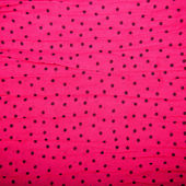 Red textile background with black circles — Stock Photo