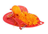 Chopped carrot on a chopping board — Stok fotoğraf