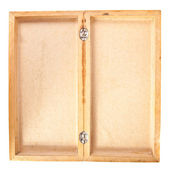 Empty open wooden box top view — Stock Photo