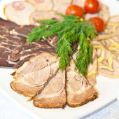 Meats on a plate — Stock Photo