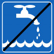 Save the water blue sign of save the environment illustration — Stock Photo