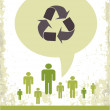 Retro recycling eco poster — Stockfoto