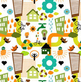 Colorful eco pattern — Stock Photo
