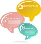 Translucent Thought Bubbles Infographic Business Background — Stock Photo