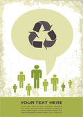 Retro recycling eco poster — Stock Photo
