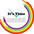 It's time, gay illustration with place for your text — Image vectorielle