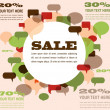 Sale background with speech bubbles - Imagen vectorial