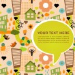 Colorful eco pattern with place for your text — Image vectorielle