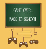 Game over, back to school — Stock Vector
