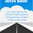 Drive carefully at winter time — Stock Vector #31095179