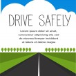 Drive safe, long empty road — Stock Vector