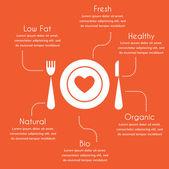 Infografia de comida orgânica e saudável — Vetorial Stock