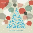 Abstract vector Christmas tree with speech bubbles — Stock Vector