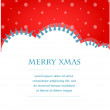 Xmas vector background with trees and snow — 图库矢量图片