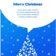 Merry christmas card with bird tree — Imagen vectorial
