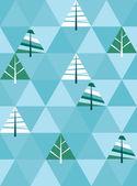 Winter hintergrund mit dreieck-textur — Stockvektor