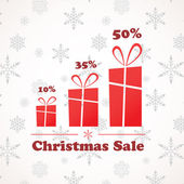 Three present boxes in different sizes, christmas sale — Stock Photo