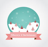 Christmas greeting card design with bauble ornament. — 图库照片