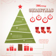 Christmas infographic icon set — Stock Vector
