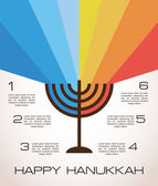 Hanukkah infographics — Stock Vector