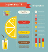 Lemon and organic infographics. — Stockvektor
