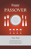 Jewish Passover holiday Seder invitation — Stok Vektör