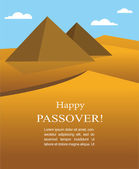 Happy Passover- Out of the Jews from Egypt — Stock Vector