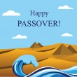 Happy Passover- Out of the Jews from Egypt. — Stock Vector #43743901