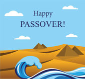 Happy Passover- Out of the Jews from Egypt. — Stock Vector