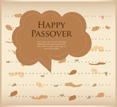 Passover invitation. matzoh (jewish bread) with speech bubble — Stock Vector