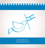 Peace dove holding Israeli flag — Stock Vector