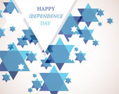 Independence day of Israel. David star background — Stock Vector