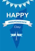 Joyeux jour de l'indépendance d'Israël — Vecteur