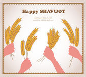Happy Shavuot, Jewish holiday card. — Stock Vector