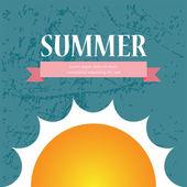 Vector Summer Sale brochure. background design — Stock Vector
