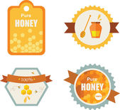 Set of honey and bee labels. product icons — Stock Vector
