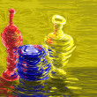 Colored clay jugs — Stockfoto #22558853