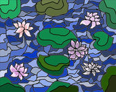 Waterlilies on a pond — Stock Photo