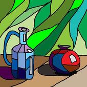 Colored jugs — Stock Photo