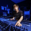 Man using a Sound Mixing Desk — Stock Photo #21507469