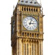 Big Ben Isolated on White background - Stock Photo