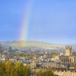 Rainbow Over City of Bath, England, UK — Stock Photo
