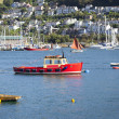 Boats on River Dart, Devon, UK - Stock Photo