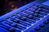 MIDI Faders on a Controller Keyboard — Stock Photo